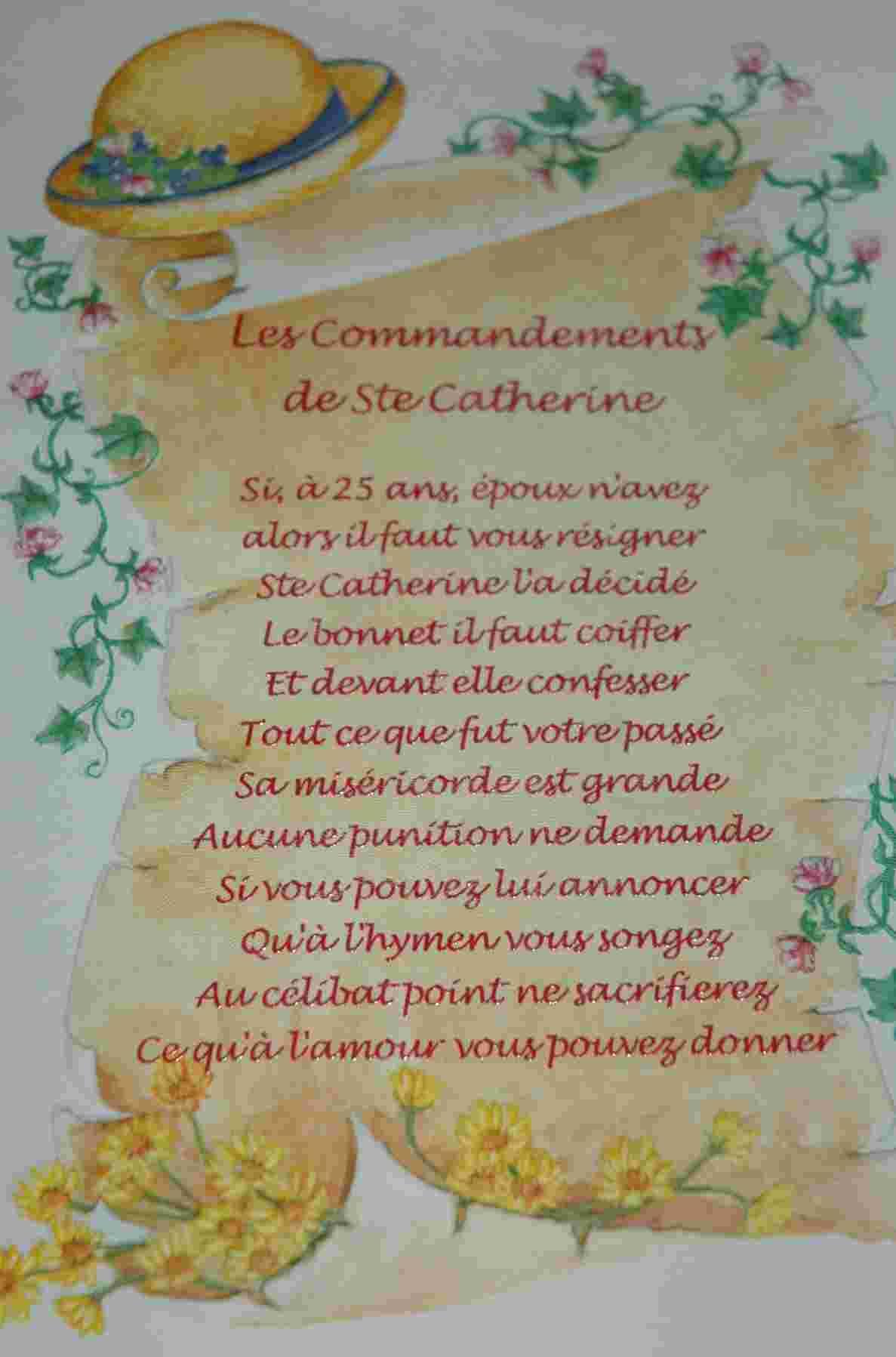 Prière des Catherinettes